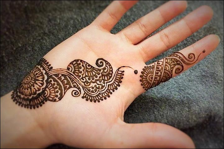 20 latest and stylish one line mehndi designs for hands for Simple single
