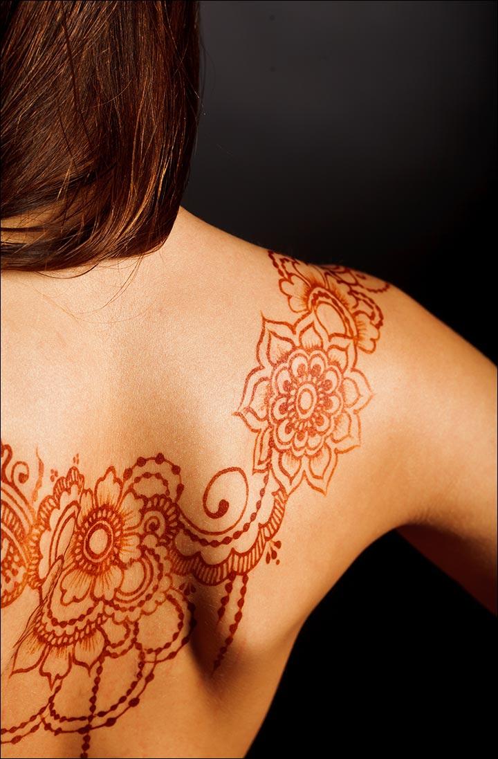 Девушки татуировки хной фото